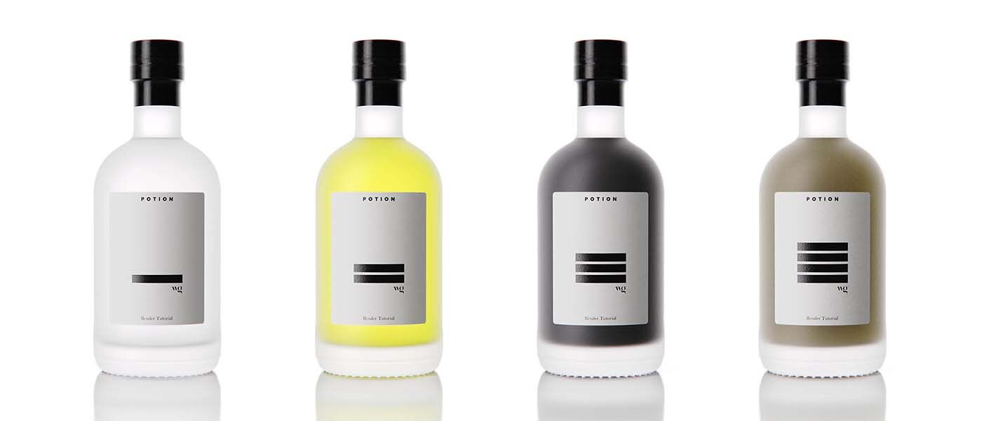 Recreation of original spirits frosted glass bottle designed by Solo for Gargalo