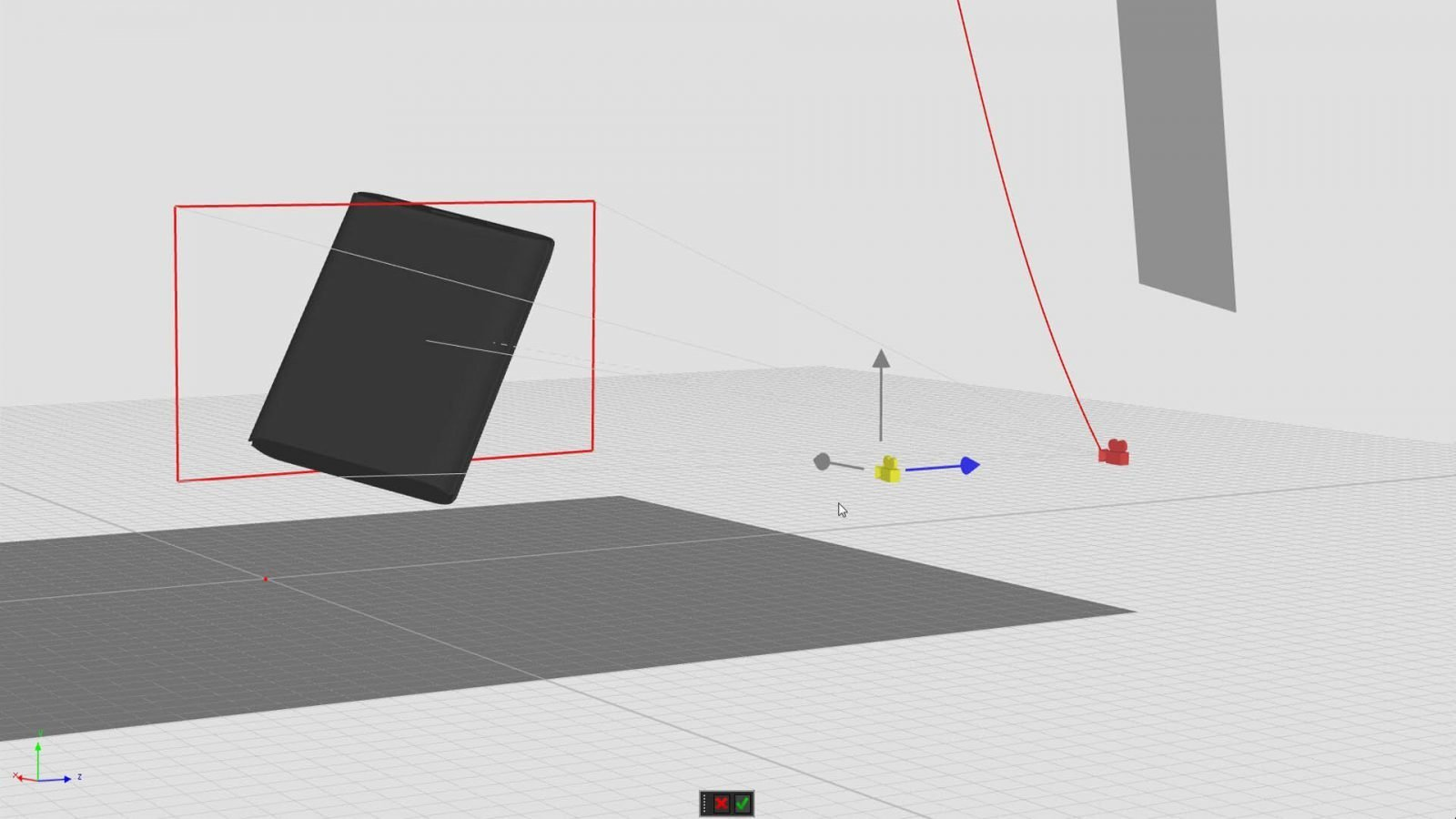 Move control points to make changes to the camera path in the geometry view